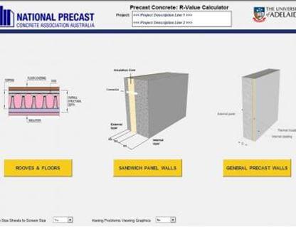 National Precast Concrete Association Australia R Value Calculator